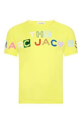 KIDS The Marc Jacobs Yellow Multicoloured Logo T-Shirt