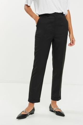 WOMEN Charcoal Tailored Taper Trousers