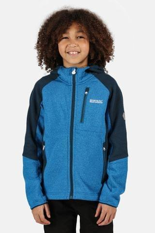 KIDS Regatta Blue Lostock Full Zip Soft Shell Jacket