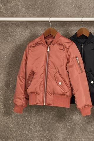 KIDS Rust/Pink Shower Resistant Bomber Jacket (2-16yrs)