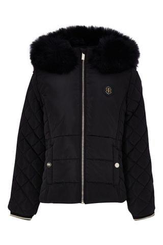 KIDS River Island Black Matte Harvey Padded Jacket