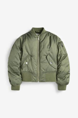 KIDS Khaki Shower Resistant Bomber Jacket (2-16yrs)