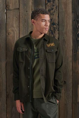 MEN Superdry Core Military Patched Shirt