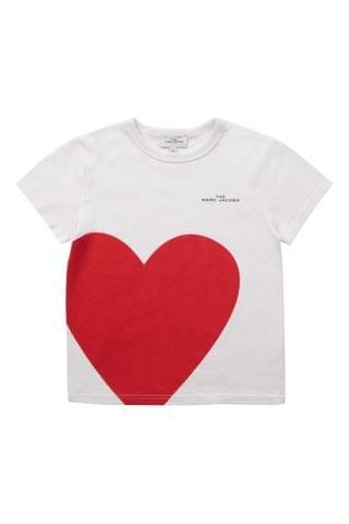KIDS The Marc Jacobs White Heart T-Shirt