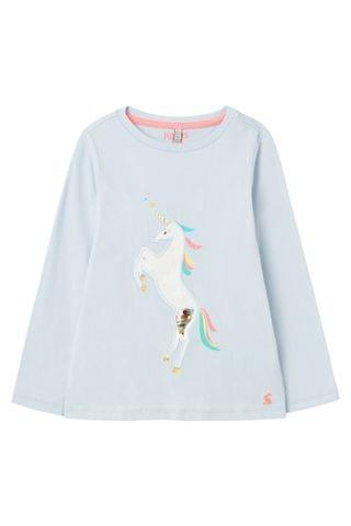 KIDS Joules Blue Paige Squishy Artwork Top