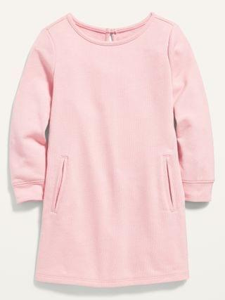 KIDS French Terry Pocket Dress for Toddler Girls