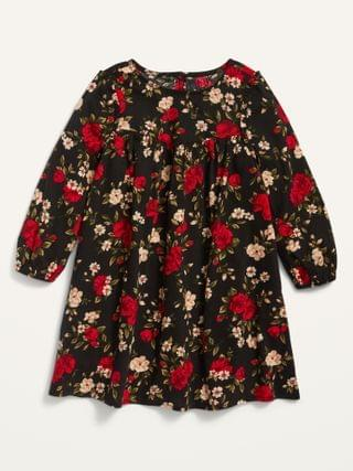 KIDS Long-Sleeve Floral Dress for Toddler Girls