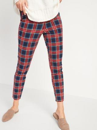 WOMEN All-New High-Waisted Patterned Pixie Ankle Pants