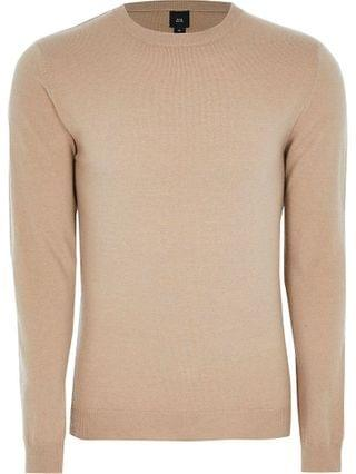 MEN Stone long sleeve cashmere blend jumper