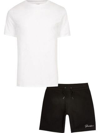MEN Prolific white t-shirt and short set