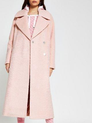 WOMEN Pink oversized longline coat