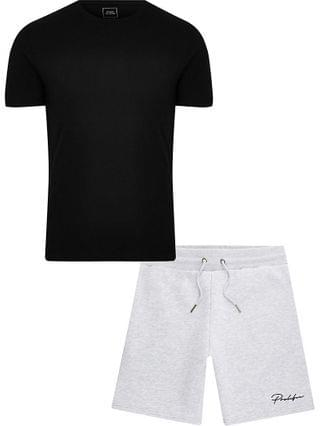MEN Prolific black t-shirt and short set