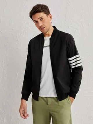 MEN Striped Bomber Jacket