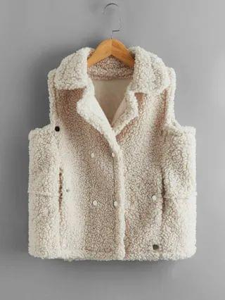 KIDS Double-breasted Teddy Vest