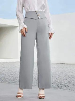 WOMEN Wide Leg Zip Back Pants