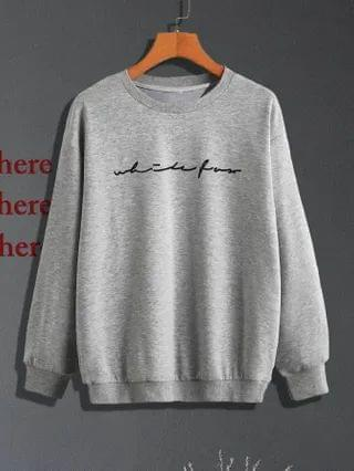 MEN Letter Graphic Drop Shoulder Sweatshirt