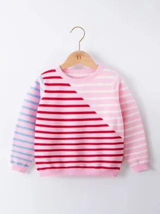 KIDS Colorful Striped Pattern Sweater