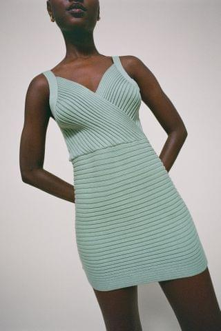 WOMEN Lioness East On Ribbed Knit Mini Dress
