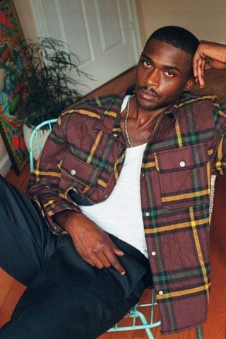 MEN UO Plaid Quilted Shirt Jacket