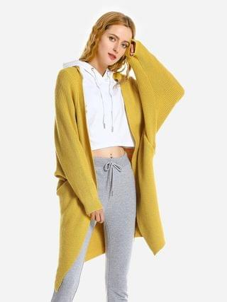 WOMEN ZAN.STYLE Loose Sweater Coat - Yellow