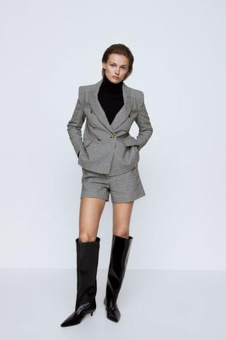 WOMEN HOUNDSTOOTH BLAZER