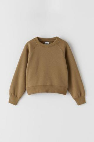 KIDS BASIC RAGLAN SLEEVE SWEATSHIRT