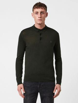 MEN Mode Merino Long Sleeve Polo Shirt