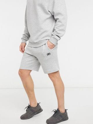 River Island quilted lounge short in gray