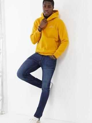 TEST LEVI Levi's logo polar fleece hoodie in golden yellow
