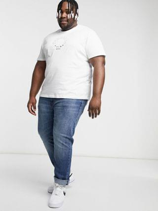 Plus relaxed organic T-shirt in white with front city print