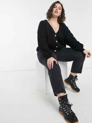 WOMEN Cotton On Curve cardigan in black