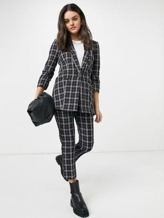 WOMEN mix & match tailored suit blazer in mono plaid
