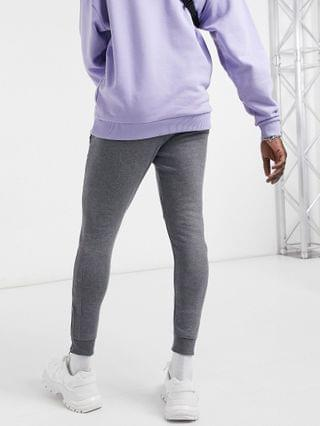 Bershka panelled sweatpants in gray