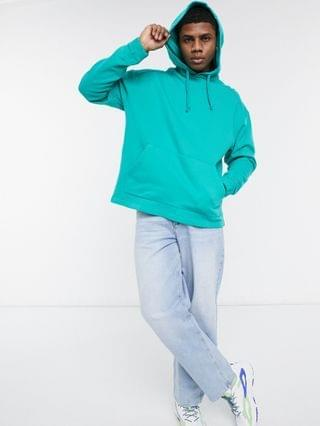 oversized hoodie in washed blue
