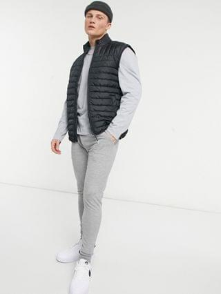 MEN Only & Sons quilted vest in black