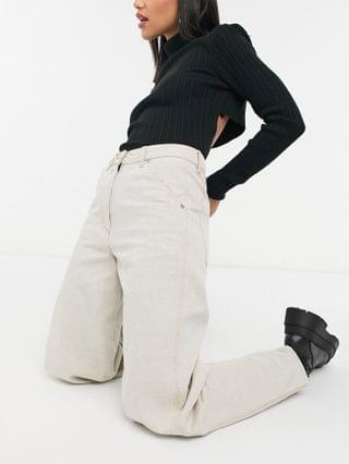 WOMEN high rise painter jeans in stone