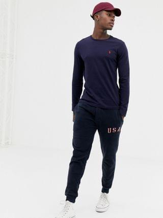 Polo Ralph Lauren polo player logo long sleeve top in ink blue