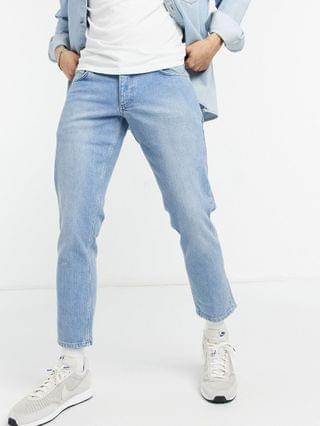 TEST LOW RISE STRETCH SLIM JEANS IN LIGHT BLUE 70 low rise stretch slim jeans in light blue 70's wash