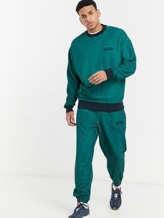 Actual co-ord in teal with wash and embroidery