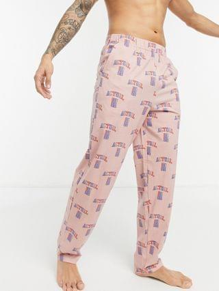 Actual lounge pajama bottoms with all over print