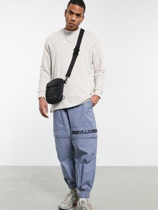 MEN oversized sweatshirt in white