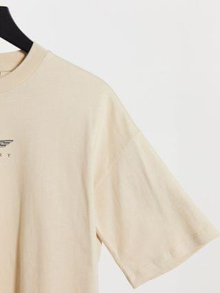 WOMEN t-shirt with luxury logo graphic in stone