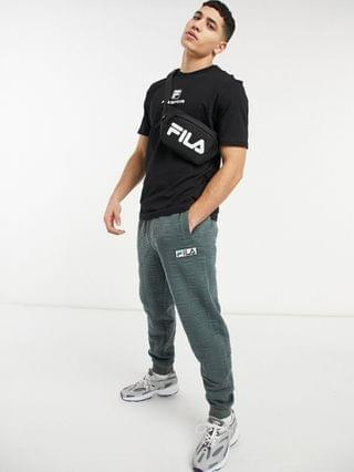 Fila football chest logo T-shirt in black Exclusive to