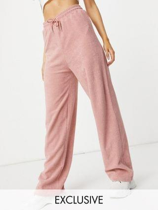 WOMEN New Girl Order Exclusive terrycloth set in blush pink