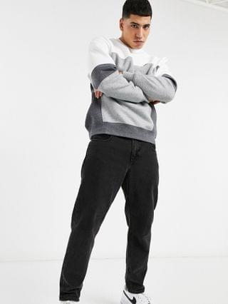 Nike color block crew neck sweatshirt in white and dark gray S 0
