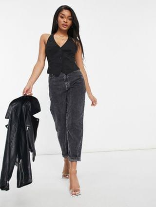 WOMEN Petite mix & match suit vest in black