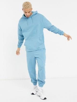 co-ord oversized tracksuit in blue