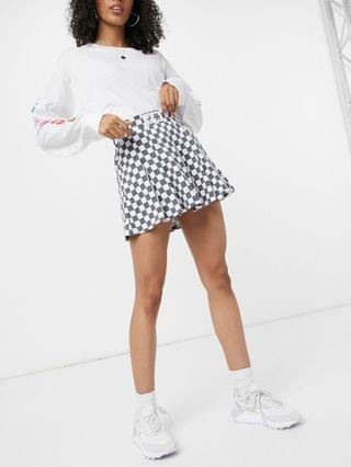 WOMEN New Girl Order mini pleated tennis skirt set in checkerboard