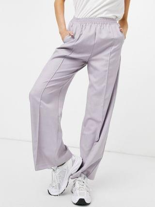 WOMEN oversized tailored sweatpants in grayed lilac