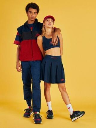 WOMEN New Balance pleated skirt in navy- exclusive to